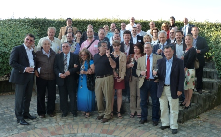 Photo de groupe au Chateau Lynch Bages